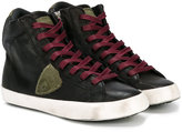 Philippe Model Kids hi-top lace-up sneakers