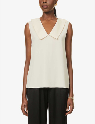 Theory V-neck silk top