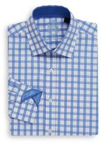 English Laundry Regular-Fit Checked Dress Shirt