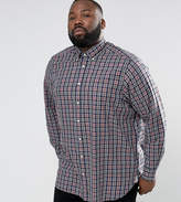 Tommy Hilfiger PLUS Check Shirt Buttondown Regular Fit in Gray Heather