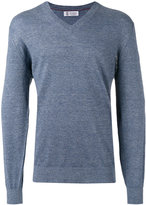 Brunello Cucinelli v-neck jumper - men - Cotton/Linen/Flax - 46