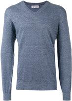 Brunello Cucinelli V neck sweatshirt - men - Cotton/Linen/Flax - 46