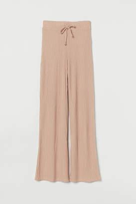 H&M Rib-knit Pants - Pink
