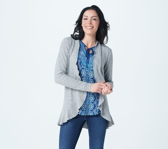 Belle By Kim Gravel Ruffle Edge Cardigan
