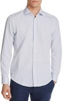 BOSS Luther Dash Pattern Regular Fit Button-Down Shirt