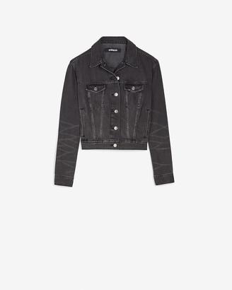 Express Black Denim Easy Trucker Jacket
