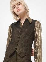 Michael Kors Metallic Wool Vest