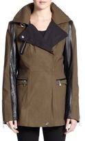 Dawn Levy Chase Leather-Detail Jacket