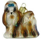 Shih Old World Christmas Tzu Glass Blown Ornament