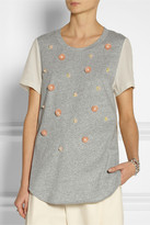 3.1 Phillip Lim Embellished cotton-jersey and silk T-shirt
