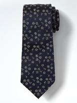 Banana Republic Sketch Flowers Silk Nanotex Tie