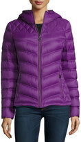 MICHAEL Michael Kors Hooded Quilted Puffer Jacket, Violet Glaze