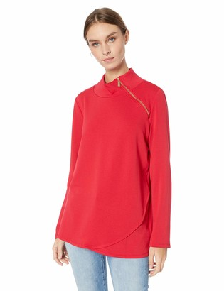 Chaus Women's L/S French Terry Zip Pullover