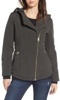 GUESS Women's Asymmetrical Soft Shell Coat