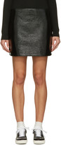 Courreges Black Glossy Mini Skirt