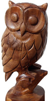 Asian Art Imports Hand Carved Owl Figurine
