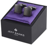 Jeff Banks Square Brushed Gunmetal Cufflink