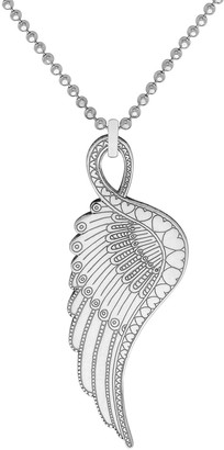 Cartergore Small Silver Wing Pendant Necklace