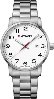 Wenger Men's Sport Swiss-Quartz Watch with Stainless-Steel Strap Silver 22 (Model: 01.1641.104)