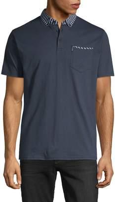 Ben Sherman Short-Sleeve Cotton Blend Polo