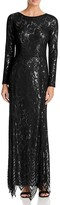 JS Collections Long Sleeve Lace Gown