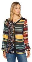 Desigual Women's Glenn Woman Woven Long Sleeve Shirt, Curry, XXL