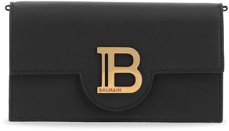Balmain B-Smartphone Leather Clutch