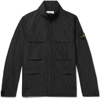 Stone Island Logo-Appliqued Micro Reps Shell Hooded Jacket