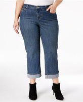 Style&Co. Style & Co. Plus Size Tummy-Control Curvy-Fit Cuffed Capri Jeans, Only at Macy's