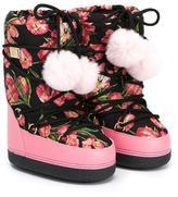 Dolce & Gabbana tulip print snow boots
