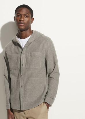 Vince Cashmere Hooded Shirt Jacket