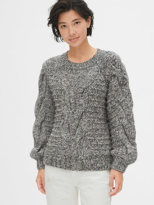 Gap Chunky Cable-Knit Crewneck Sweater