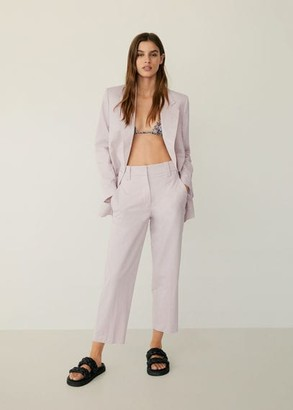 MANGO Pockets suit blazer light pink - 2 - Women
