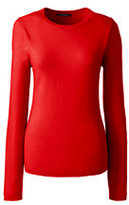 Lands' End Women's Cashmere Sweater-Bright Orange