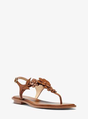 Michael Kors Flora Applique Leather Sandal