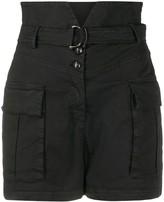 Pinko notched-waist cargo shorts