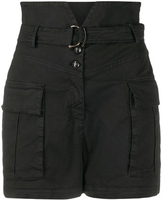 Pinko Notched-Waist Cargo Shorts