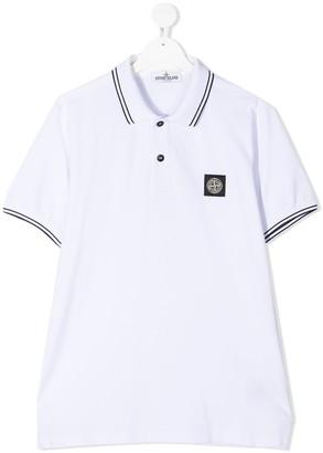Stone Island Junior TEEN logo polo shirt