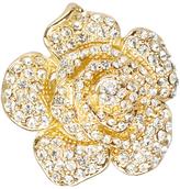 Love Rocks Crystal & Goldtone Rose Ring
