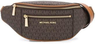 MICHAEL Michael Kors logo print canvas belt bag