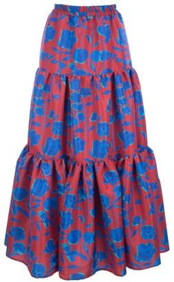 La DoubleJ Edition 22 Faile Floral Tier Maxi Skirt