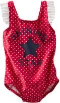 Osh Kosh Baby/Toddler Girls 1pc Swimsuit (, Red/Shining Star)