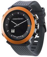 Asstd National Brand Cogito Classic Orange Bezel Black Silicone Strap Analog/Digital Smartwatch