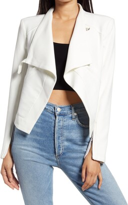 Blank NYC Mesh Mix Drape Front Jacket