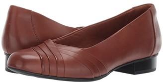 Clarks Juliet Petra (Tan Leather) Women's 1-2 inch heel Shoes