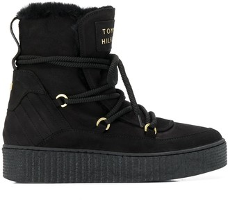 Tommy Hilfiger lace-up snow boots
