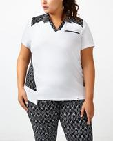 Penningtons Sports - Plus-Size Printed Golf Polo Shirt