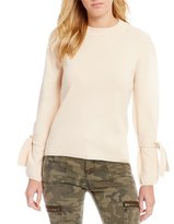 Gianni Bini Shania Slit Tie Sleeve Sweater