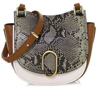 3.1 Phillip Lim Alix Python-Embossed Leather Saddle Bag