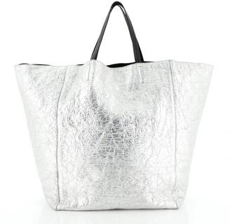 Celine Horizontal Cabas Tote Metallic Leather Large